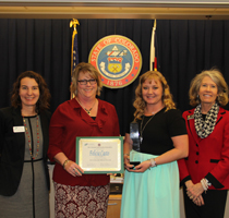 Commissioner Katy Anthes, Sharon Kallus, Felicia Casto and Joyce Rankin