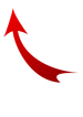 Image: Red Curved Arrow Pointing Left and Up