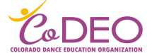 Colorado Dance Education Organization Logo