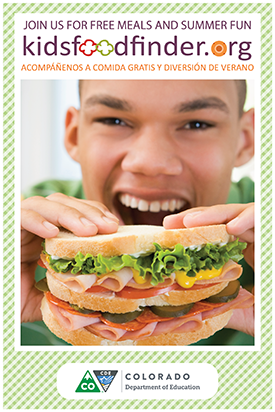 kidsfoodfinder.org teenage boy eating a sandwich.